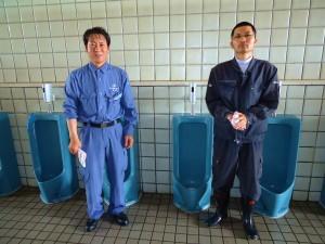 入社して、初めてのトイレ清掃