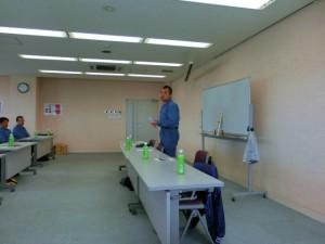 社長訓話 選ばれる企業になる為には、何をしなければならないか?社長の想いが強く感じられました。