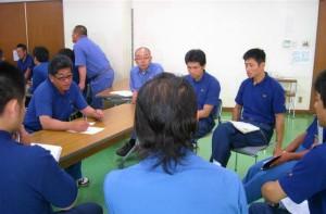 グループ討論NO.1 議題は熱中症対策など、3つの議題について皆で話し合いました。