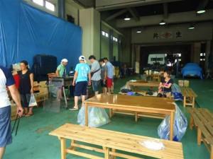 7月14日(日)BBQ大会が開催されました。写真は下準備や段取りをしてもらっている時の様子です。